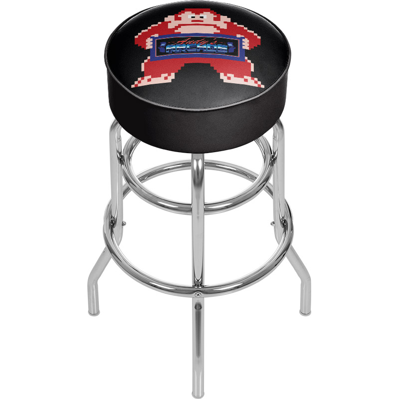 Tremendous Custom Personalized Logo Chrome Bar Stool Creativecarmelina Interior Chair Design Creativecarmelinacom