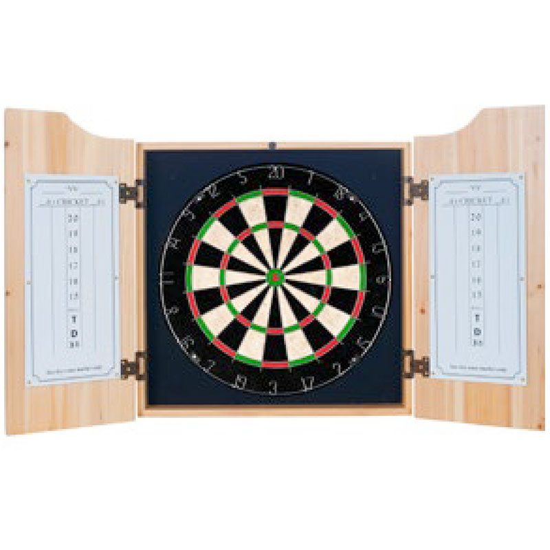 Board, Darts, Outchart & Markers for customized dart cabinet