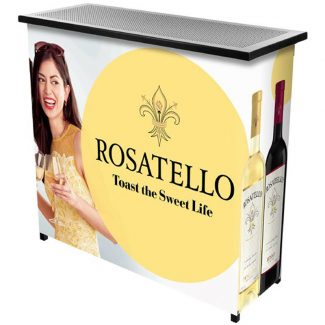 Customizable Metal 2 Shelf Portable Bar PB8000